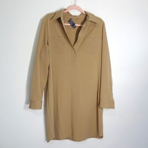 American Living Tan Shirt Dress Size 16 NWOT